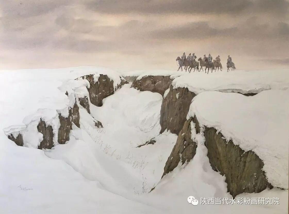 李刚(乌日根•达赉)作品   内蒙古艺术家水彩画作品专题微展第30集(总第1128期) 第21张