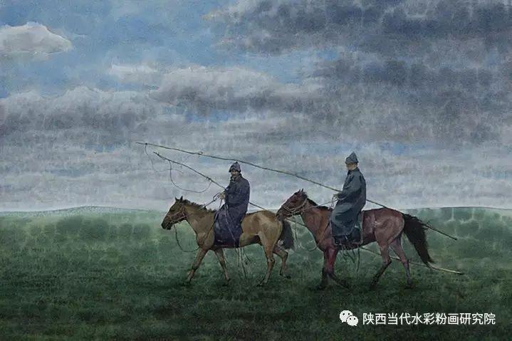 李刚(乌日根•达赉)作品   内蒙古艺术家水彩画作品专题微展第30集(总第1128期) 第23张