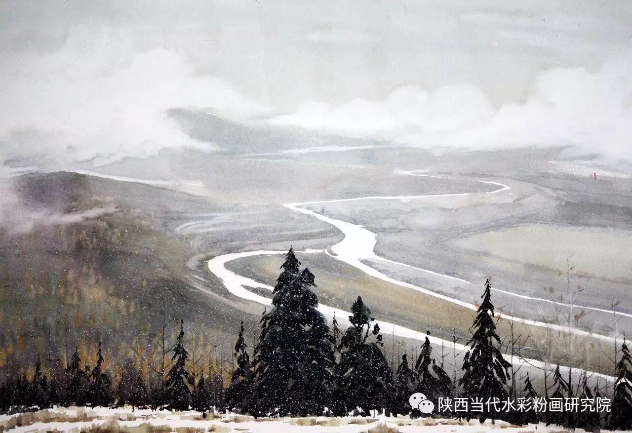 李刚(乌日根•达赉)作品   内蒙古艺术家水彩画作品专题微展第30集(总第1128期) 第22张