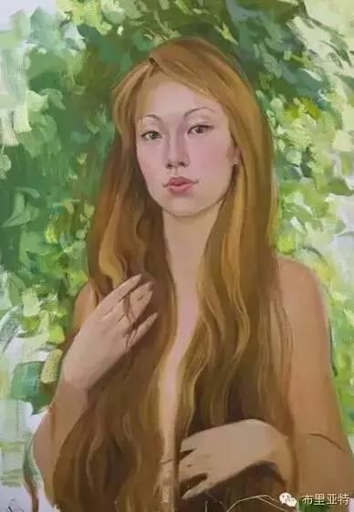 卡尔梅克画家莫日根油画欣赏 第5张