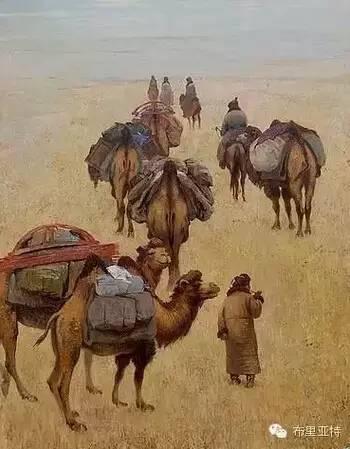 卡尔梅克画家莫日根油画欣赏 第9张