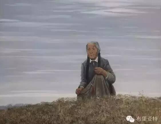 卡尔梅克画家莫日根油画欣赏 第6张
