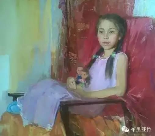 卡尔梅克画家莫日根油画欣赏 第7张