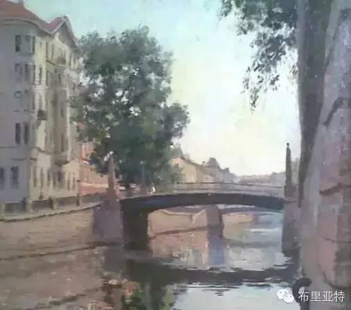 卡尔梅克画家莫日根油画欣赏 第12张