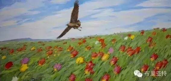 卡尔梅克画家莫日根油画欣赏 第14张