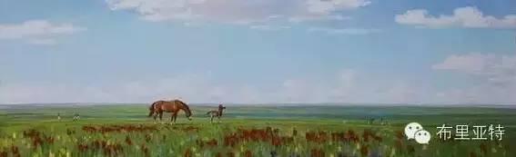 卡尔梅克画家莫日根油画欣赏 第11张