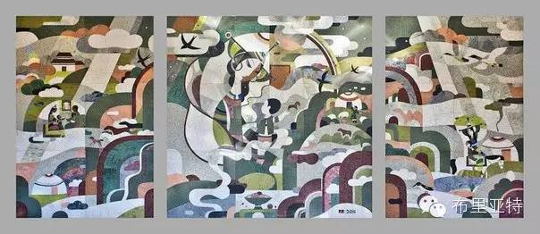 刚在蒙古办展览的布里亚特艺术家尤里作品欣赏 第1张