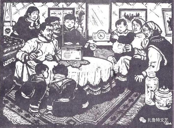 莫日根版画作品欣赏 第3张 莫日根版画作品欣赏 蒙古画廊