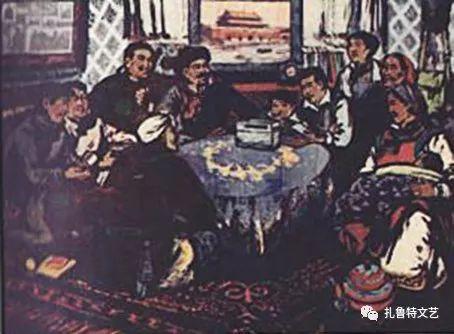 莫日根版画作品欣赏 第5张 莫日根版画作品欣赏 蒙古画廊