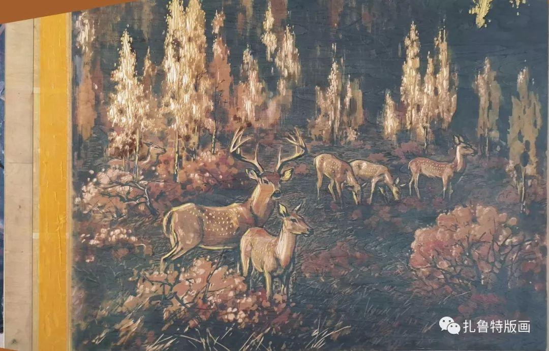 草原的气息——王志友版画(一) 第6张