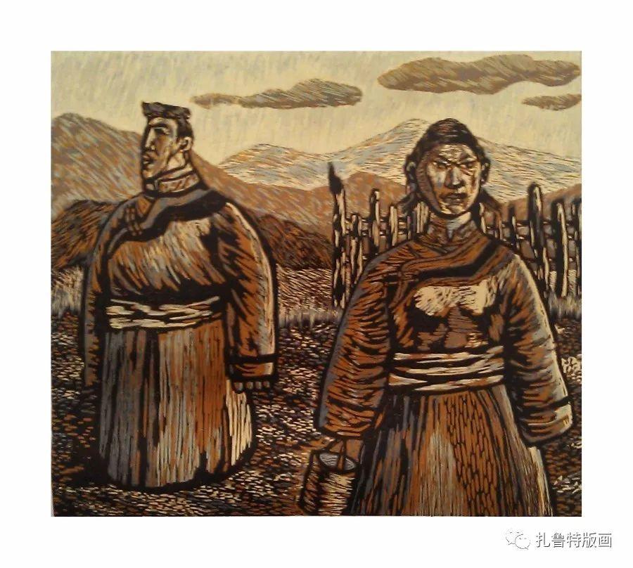 前德门版画作品欣赏 第14张 前德门版画作品欣赏 蒙古画廊