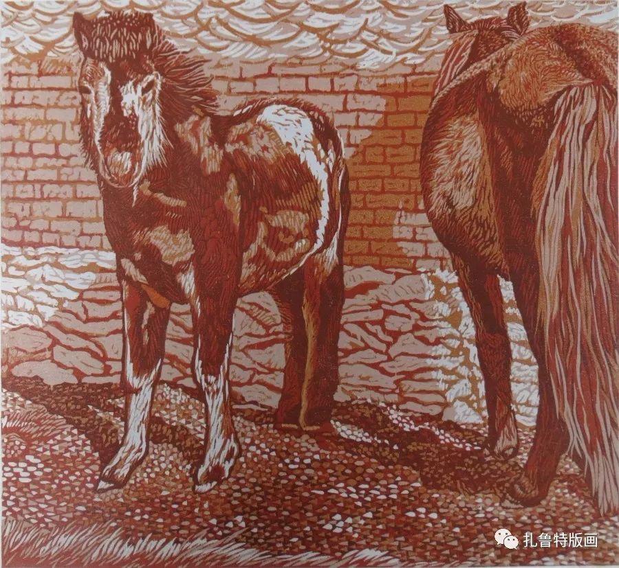 前德门版画作品欣赏 第23张 前德门版画作品欣赏 蒙古画廊