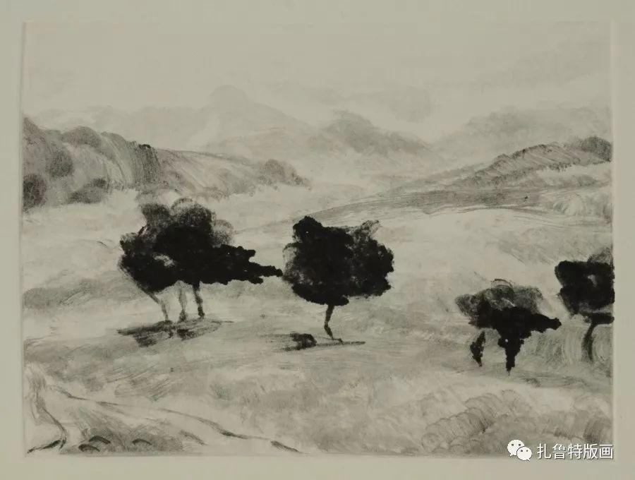前德门版画作品欣赏 第26张 前德门版画作品欣赏 蒙古画廊