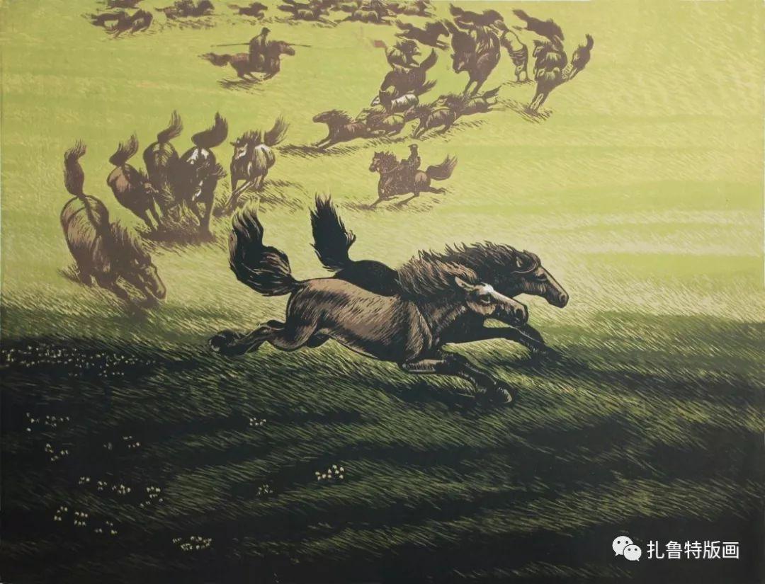 牧民版画家--照那木拉 第2张 牧民版画家--照那木拉 蒙古画廊