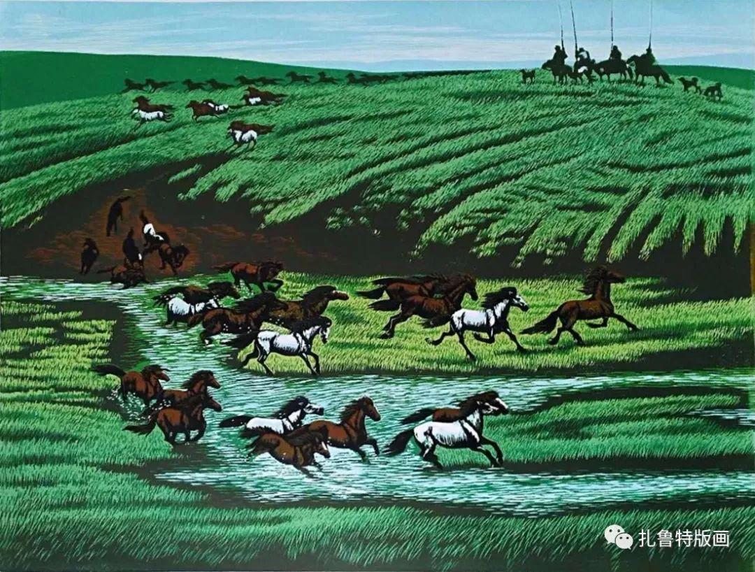 牧民版画家--照那木拉 第5张 牧民版画家--照那木拉 蒙古画廊