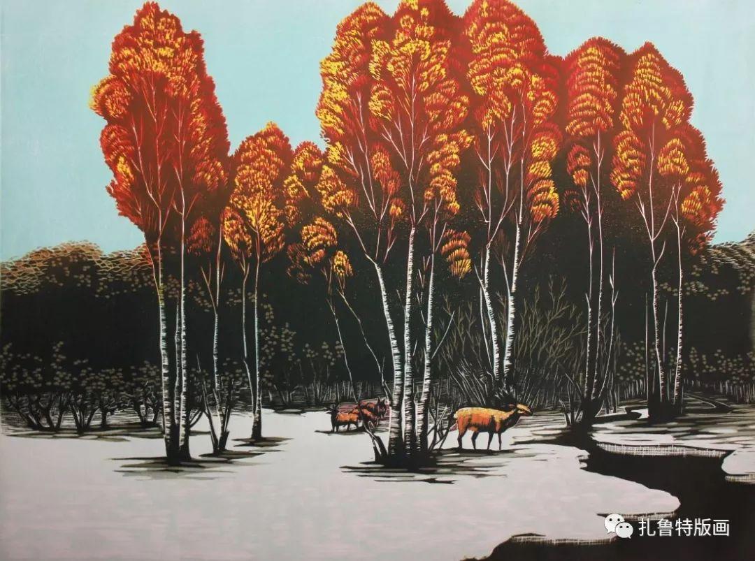 牧民版画家--照那木拉 第8张 牧民版画家--照那木拉 蒙古画廊