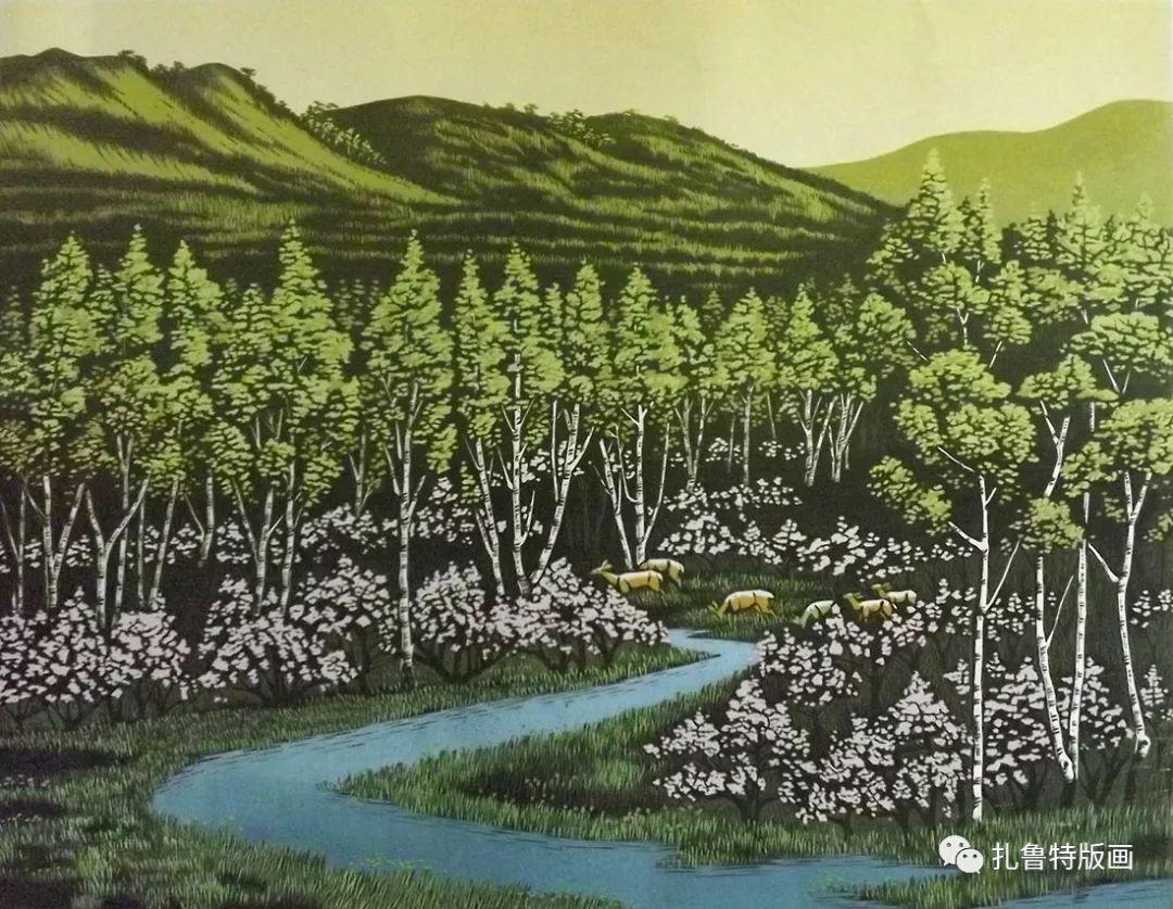 牧民版画家--照那木拉 第9张 牧民版画家--照那木拉 蒙古画廊