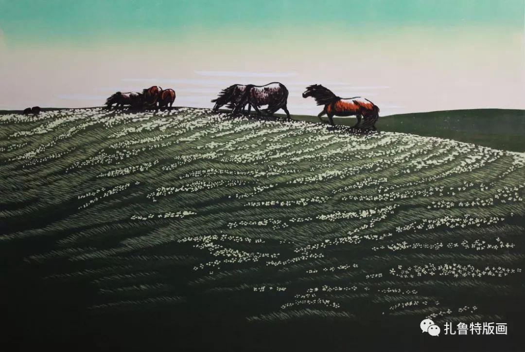 牧民版画家--照那木拉 第11张 牧民版画家--照那木拉 蒙古画廊