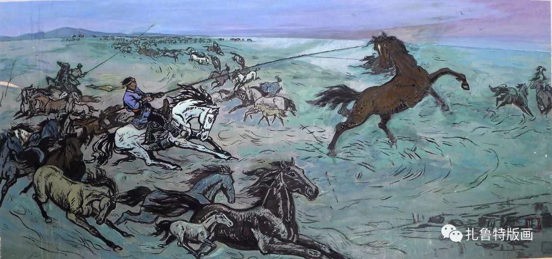 草原文化传承之星--佟金峰 第4张 草原文化传承之星--佟金峰 蒙古画廊