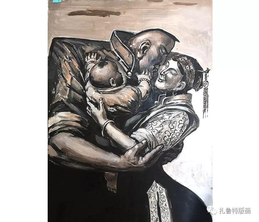 草原木刻艺术·扎鲁特版画 第6张 草原木刻艺术·扎鲁特版画 蒙古画廊