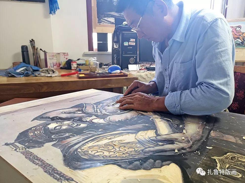 草原木刻艺术·扎鲁特版画 第7张 草原木刻艺术·扎鲁特版画 蒙古画廊
