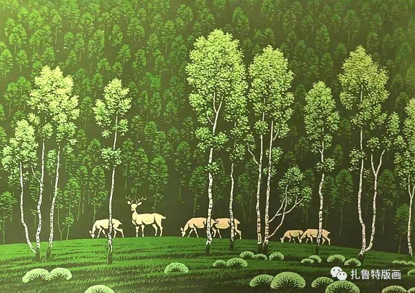 草原木刻艺术·扎鲁特版画 第16张 草原木刻艺术·扎鲁特版画 蒙古画廊