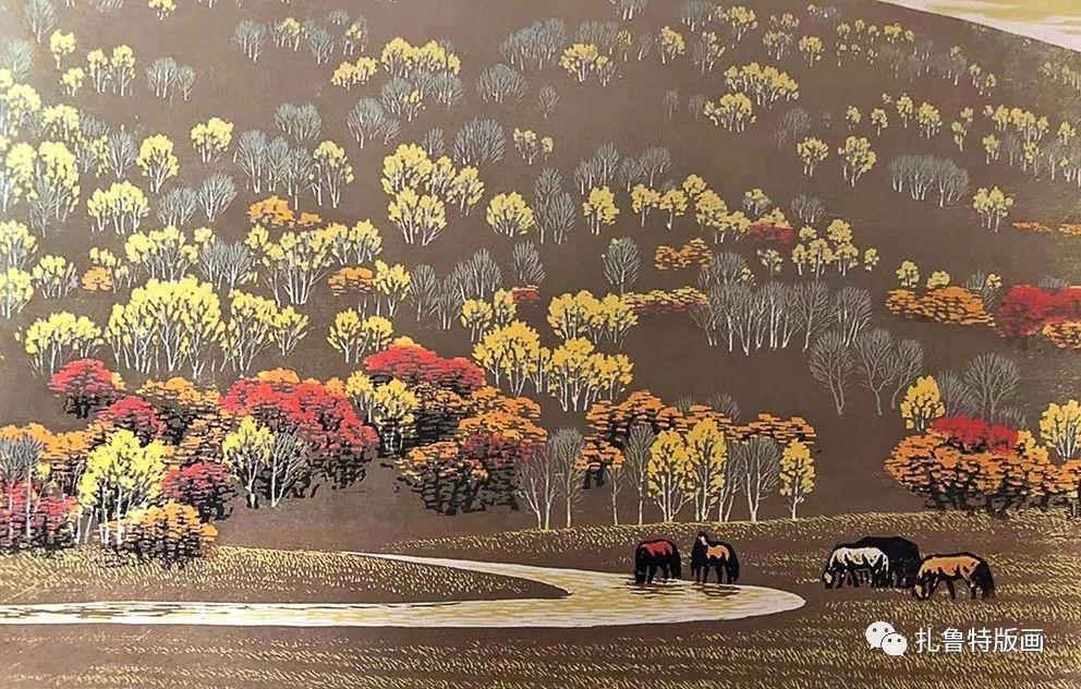 草原木刻艺术·扎鲁特版画 第17张 草原木刻艺术·扎鲁特版画 蒙古画廊