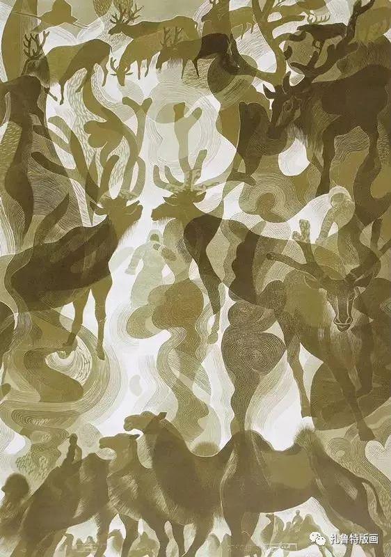 大草原的版画梦想—山丹版画作品 第8张