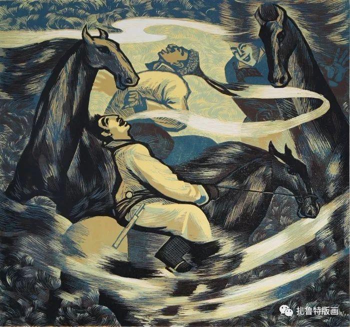 大草原的版画梦想—山丹版画作品 第23张