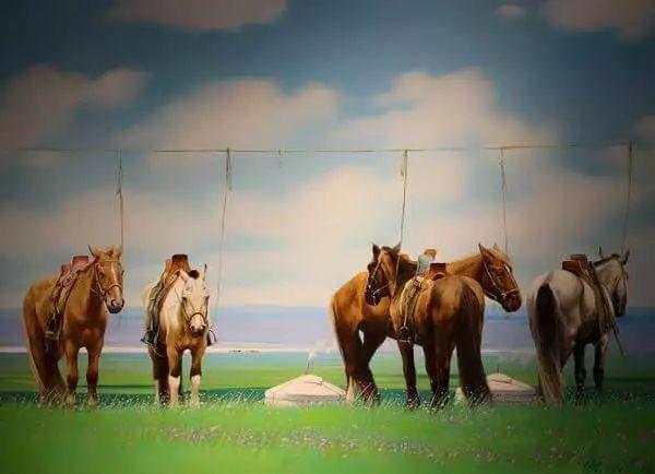 画家道尔吉德日木画笔下的蒙古马,简直栩栩如生 第5张