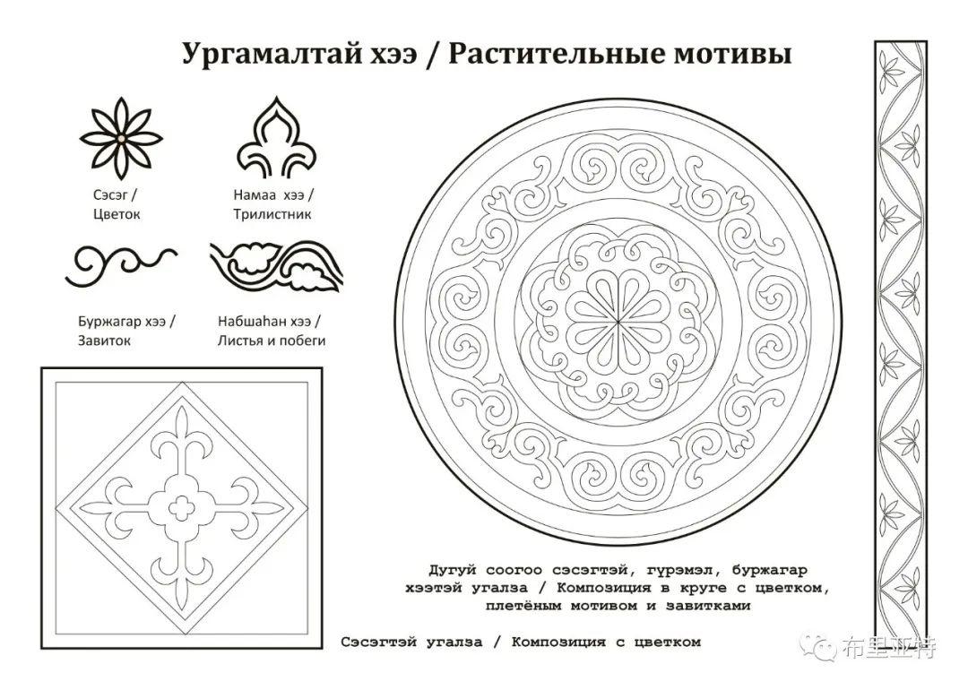 布里亚特蒙古族传统花纹艺术 第14张