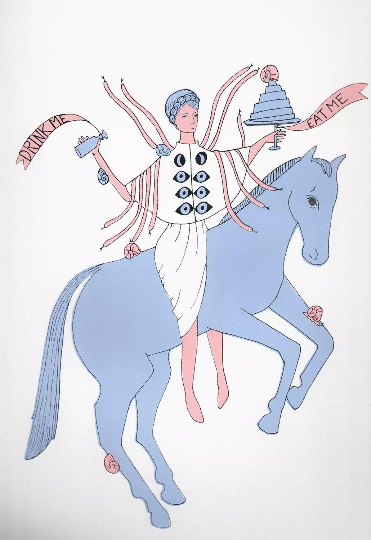 美国Dana Sherwood新的插画探讨了蒙古游牧部落 第3张 美国Dana Sherwood新的插画探讨了蒙古游牧部落 蒙古画廊