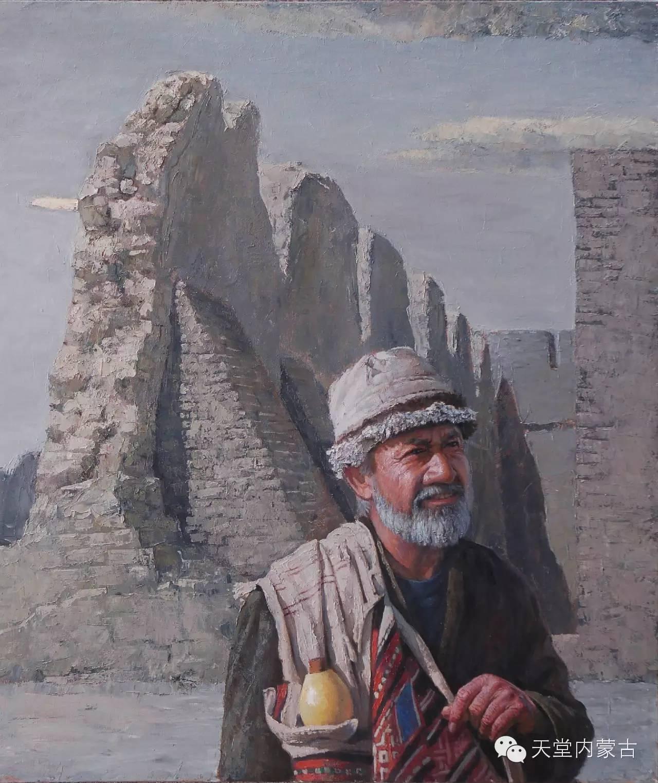 ?内蒙古油画家朝鲁门-油画作品 第3张