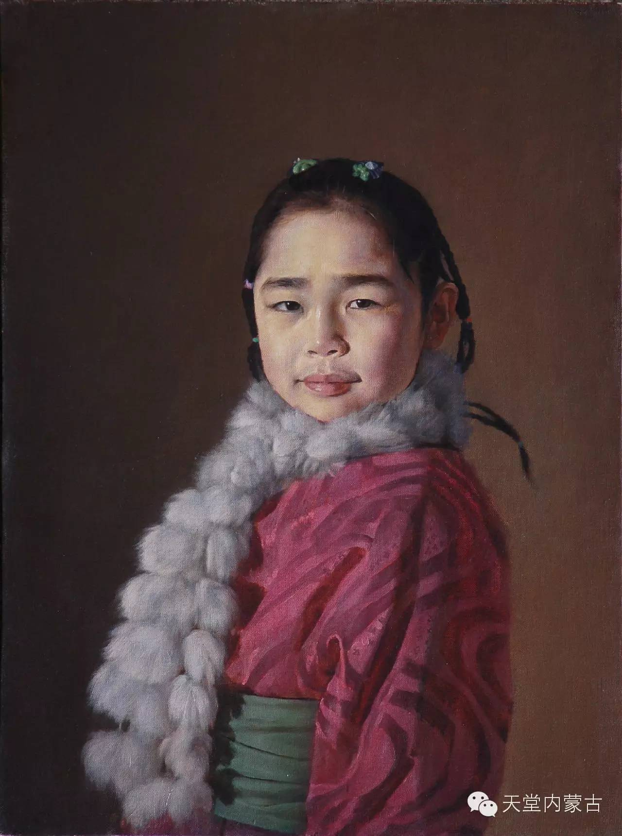 ?内蒙古油画家朝鲁门-油画作品 第4张