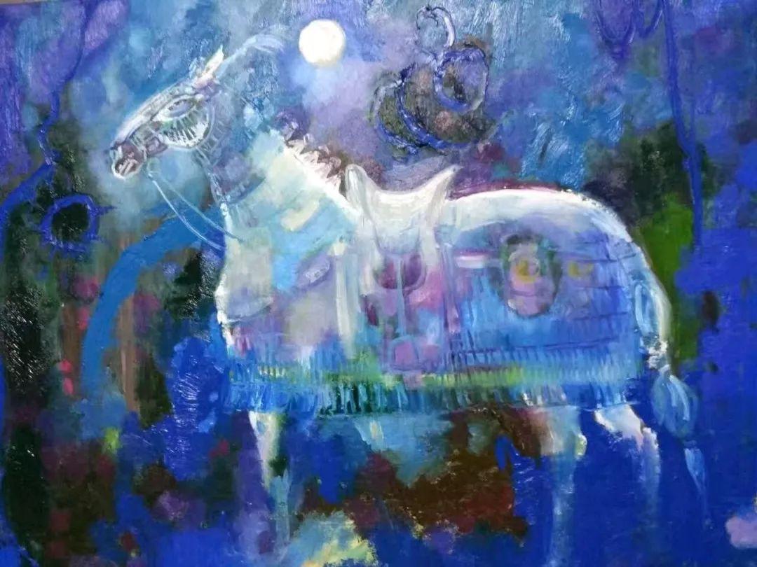 【蒙古图片】蒙古马 内蒙古当代美术作品微展 第8张