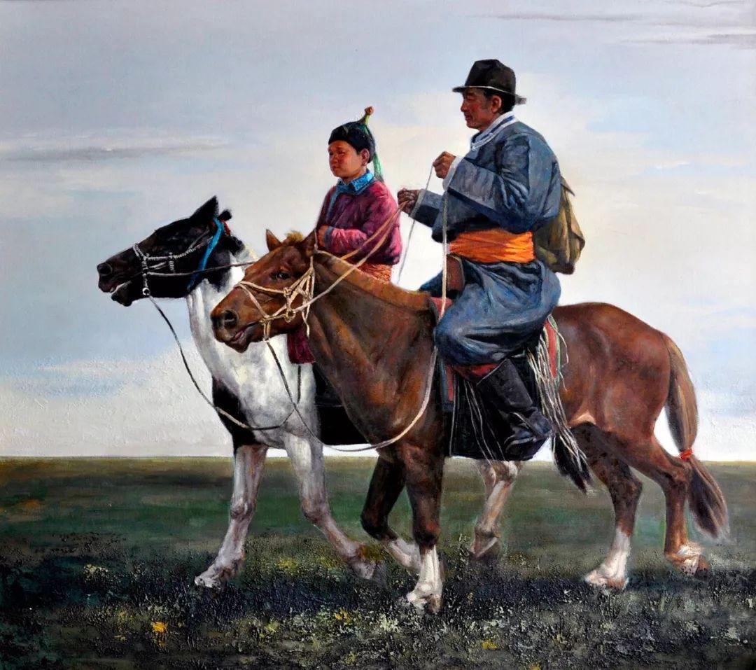【蒙古图片】蒙古马 内蒙古当代美术作品微展 第14张