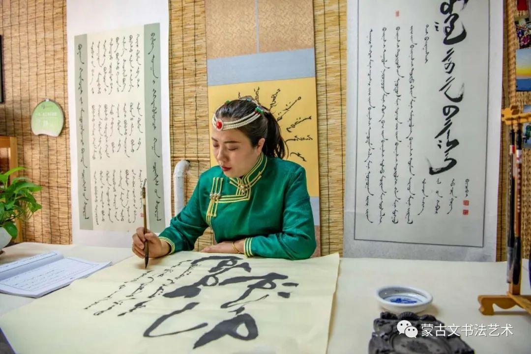 赵亮蒙古文书法 第1张 赵亮蒙古文书法 蒙古书法