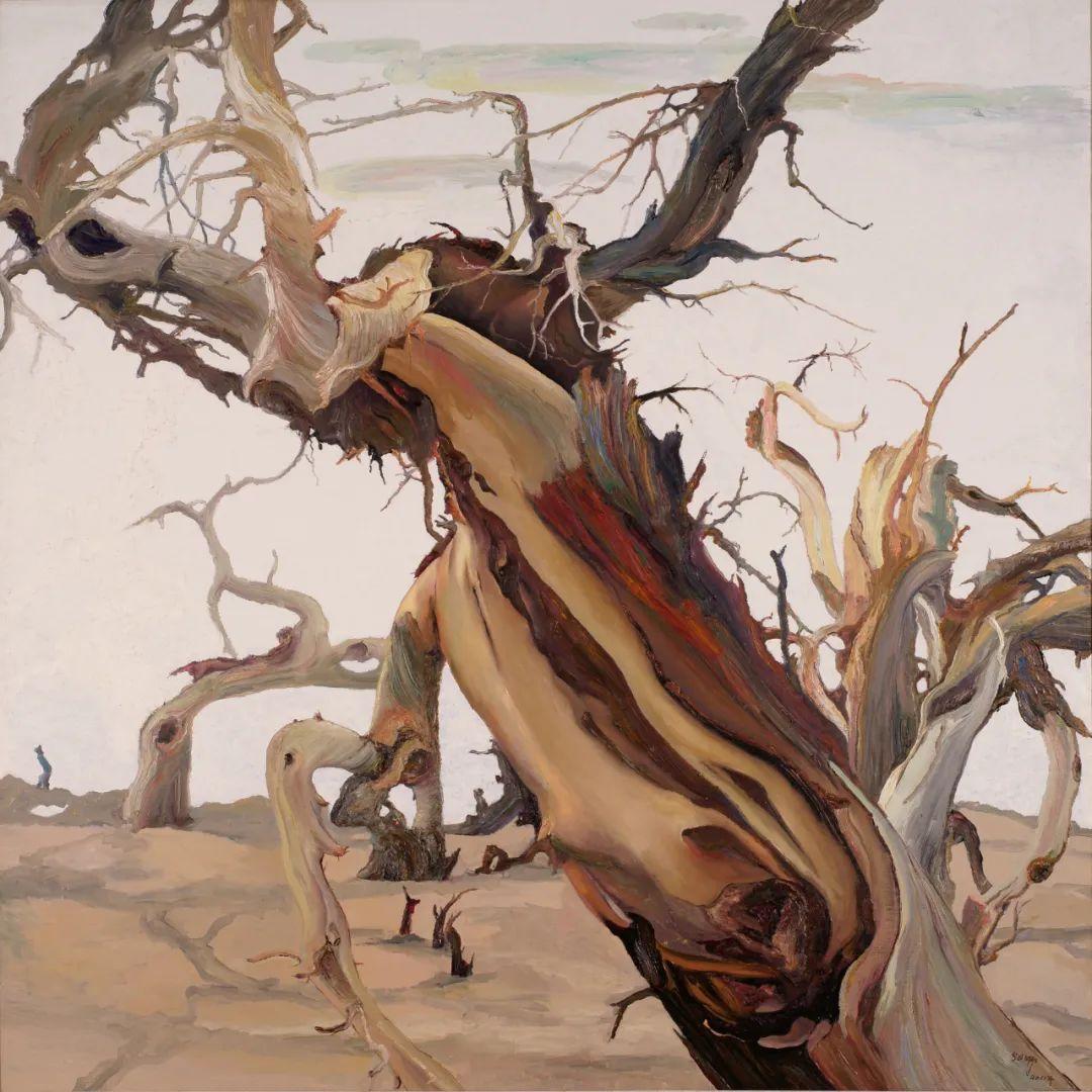 画胡杨的乌日娜丨肖亦农 第7张 画胡杨的乌日娜丨肖亦农 蒙古画廊