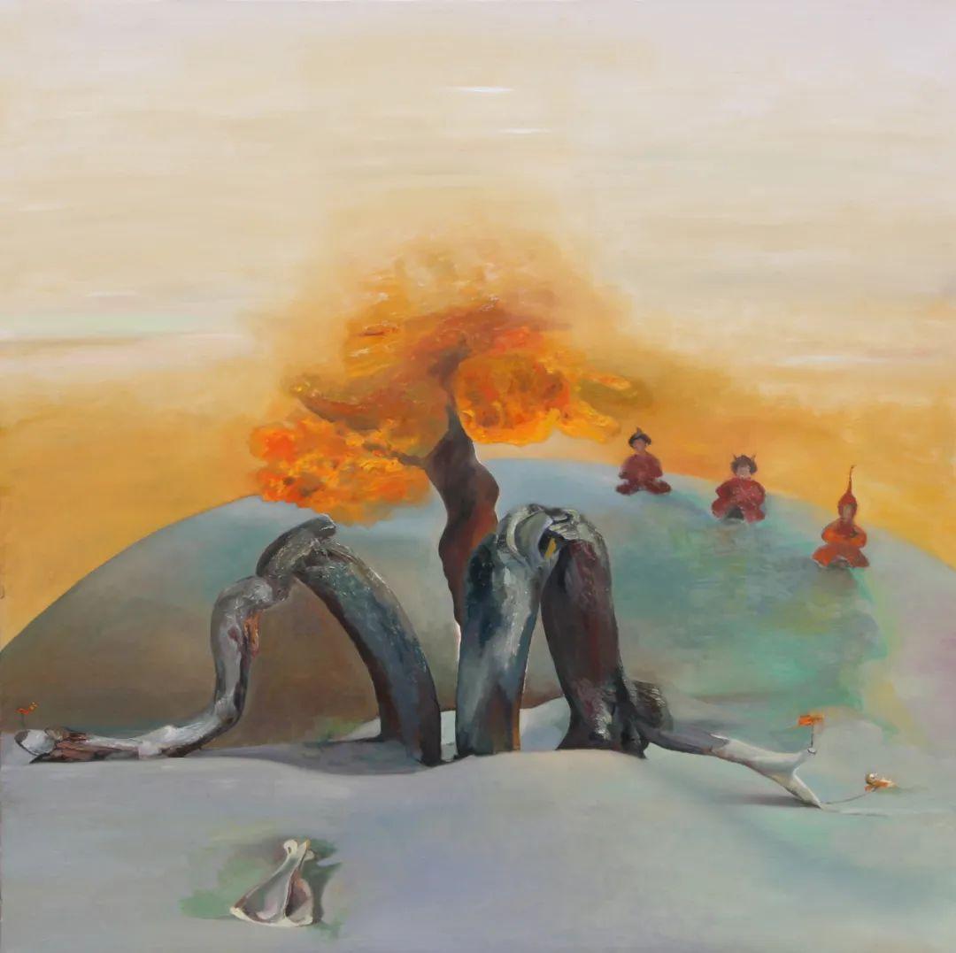 画胡杨的乌日娜丨肖亦农 第9张 画胡杨的乌日娜丨肖亦农 蒙古画廊