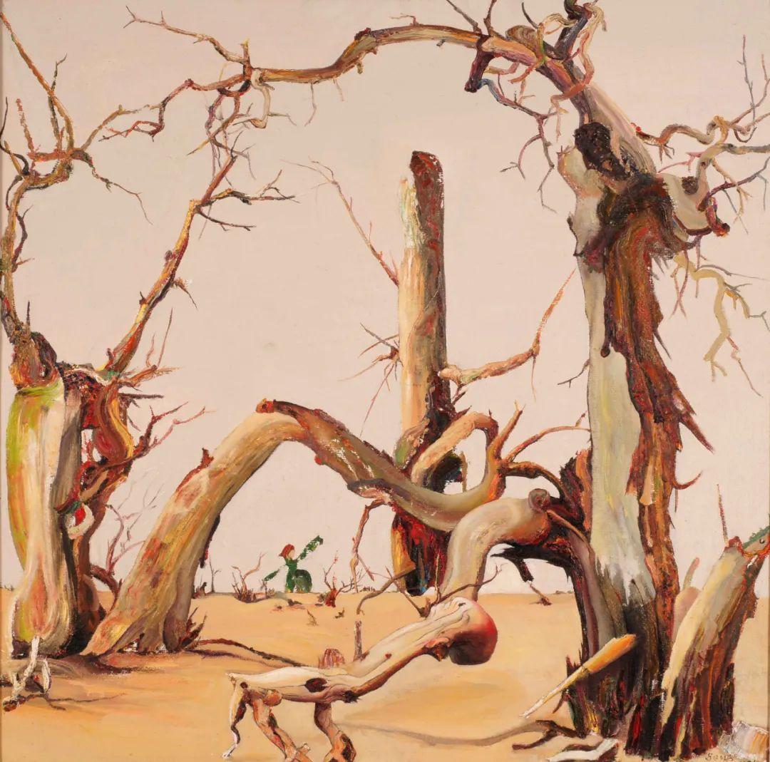 画胡杨的乌日娜丨肖亦农 第11张 画胡杨的乌日娜丨肖亦农 蒙古画廊