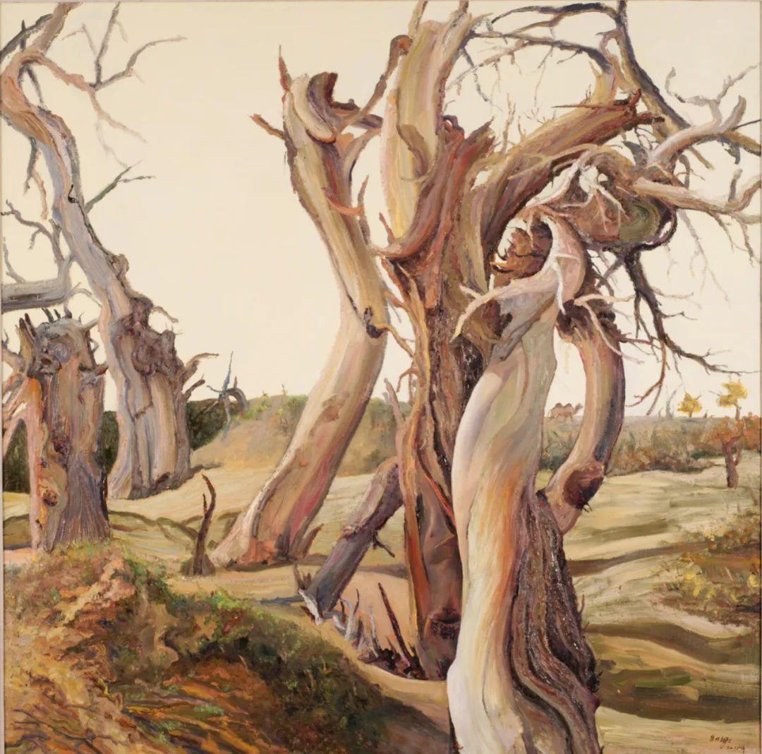 画胡杨的乌日娜丨肖亦农 第13张 画胡杨的乌日娜丨肖亦农 蒙古画廊