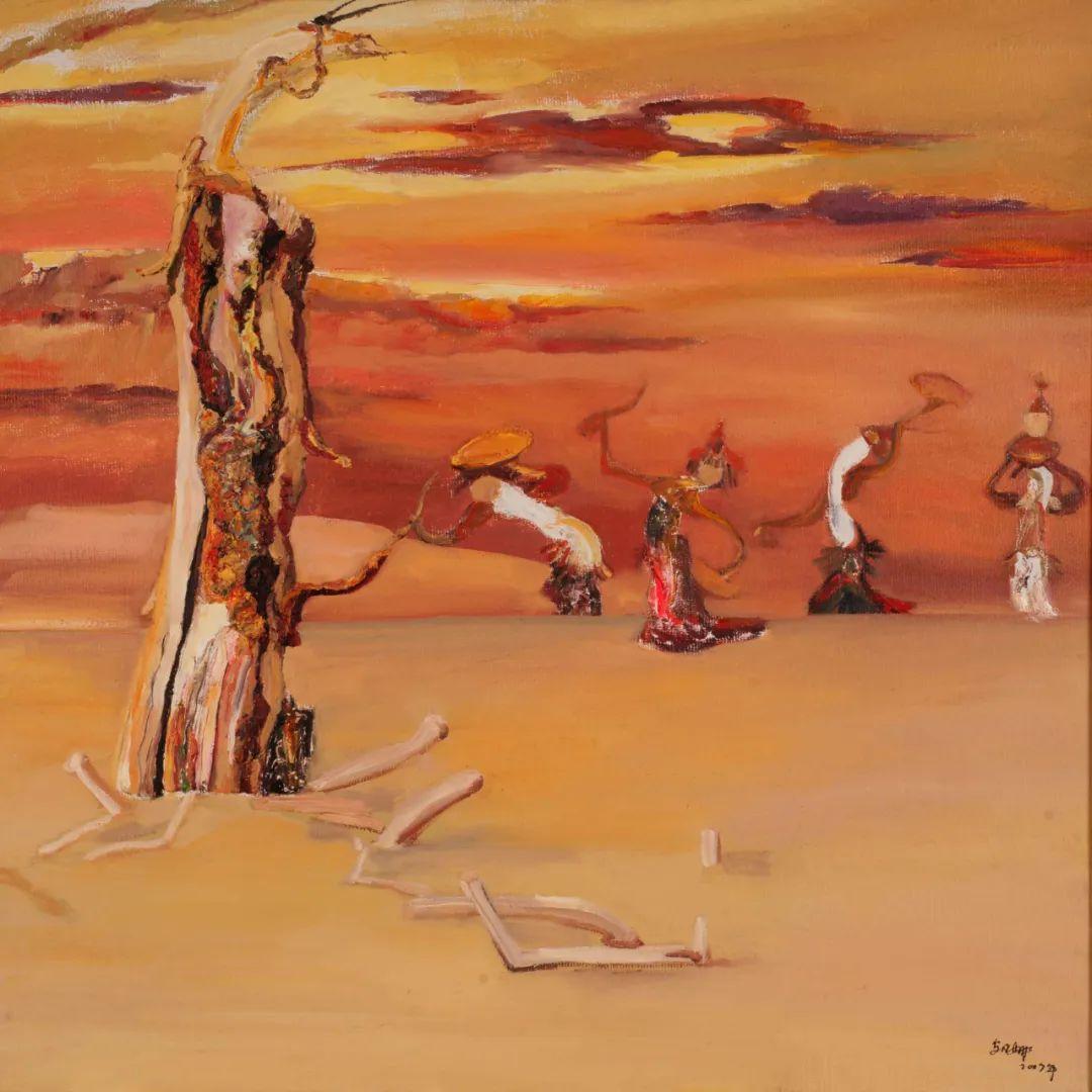 画胡杨的乌日娜丨肖亦农 第14张 画胡杨的乌日娜丨肖亦农 蒙古画廊