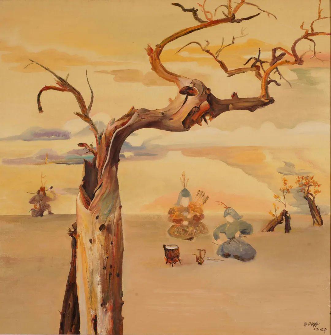 画胡杨的乌日娜丨肖亦农 第17张 画胡杨的乌日娜丨肖亦农 蒙古画廊