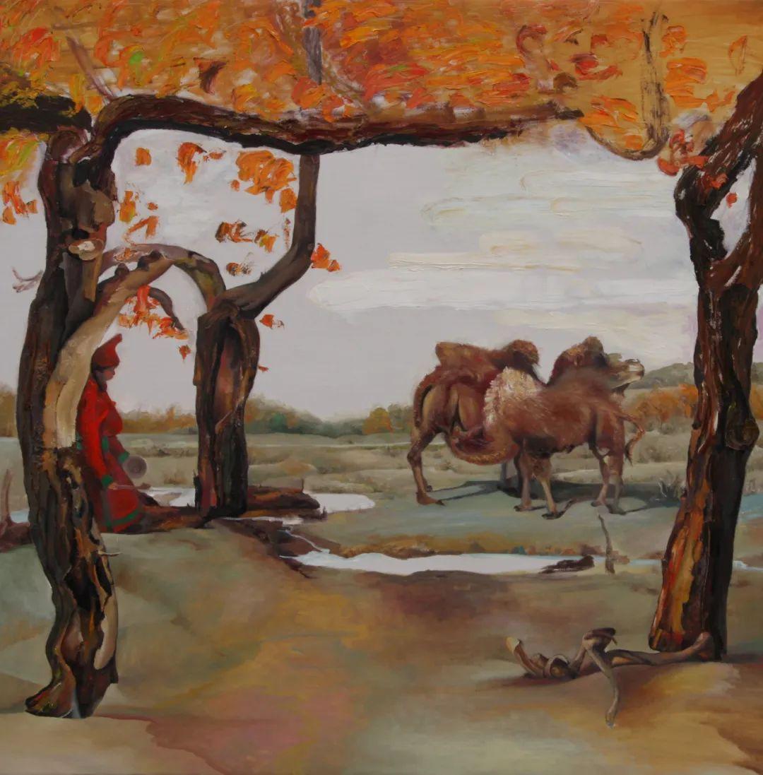 画胡杨的乌日娜丨肖亦农 第19张 画胡杨的乌日娜丨肖亦农 蒙古画廊