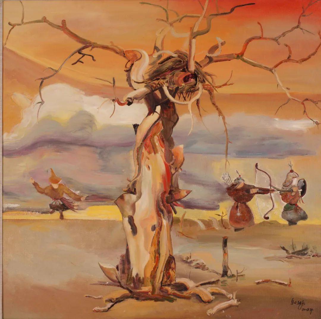 画胡杨的乌日娜丨肖亦农 第20张 画胡杨的乌日娜丨肖亦农 蒙古画廊