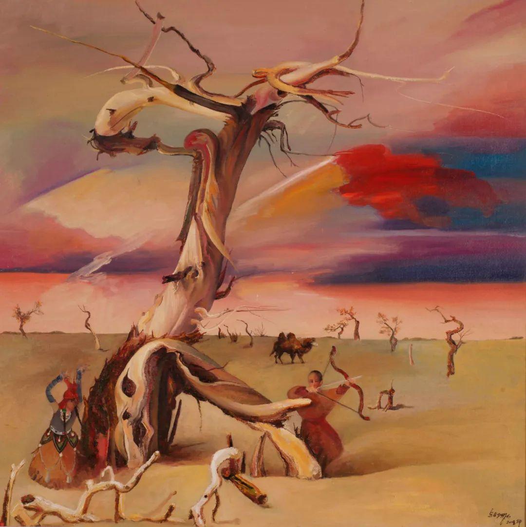 画胡杨的乌日娜丨肖亦农 第21张 画胡杨的乌日娜丨肖亦农 蒙古画廊