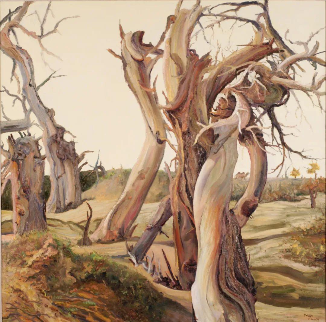 画胡杨的乌日娜丨肖亦农 第22张 画胡杨的乌日娜丨肖亦农 蒙古画廊