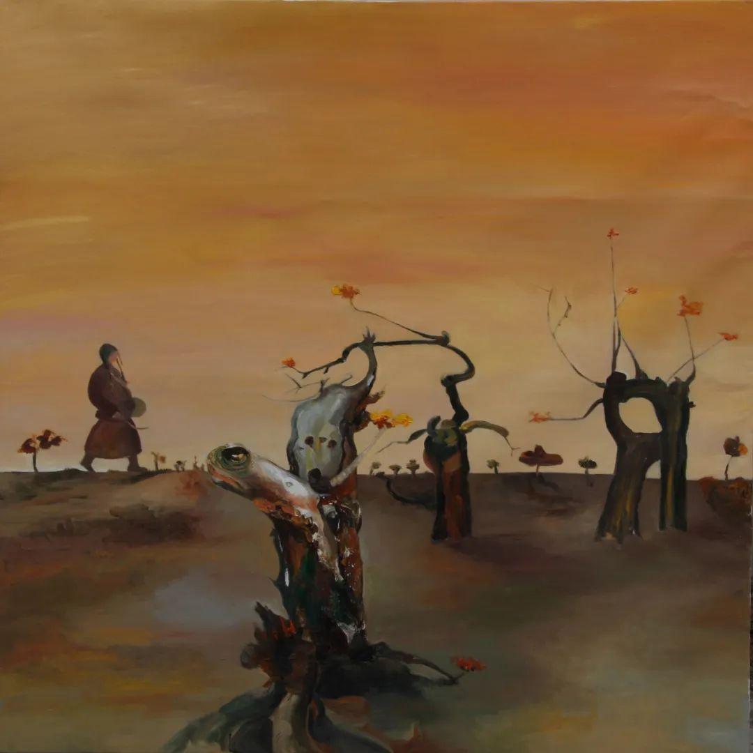 画胡杨的乌日娜丨肖亦农 第25张 画胡杨的乌日娜丨肖亦农 蒙古画廊