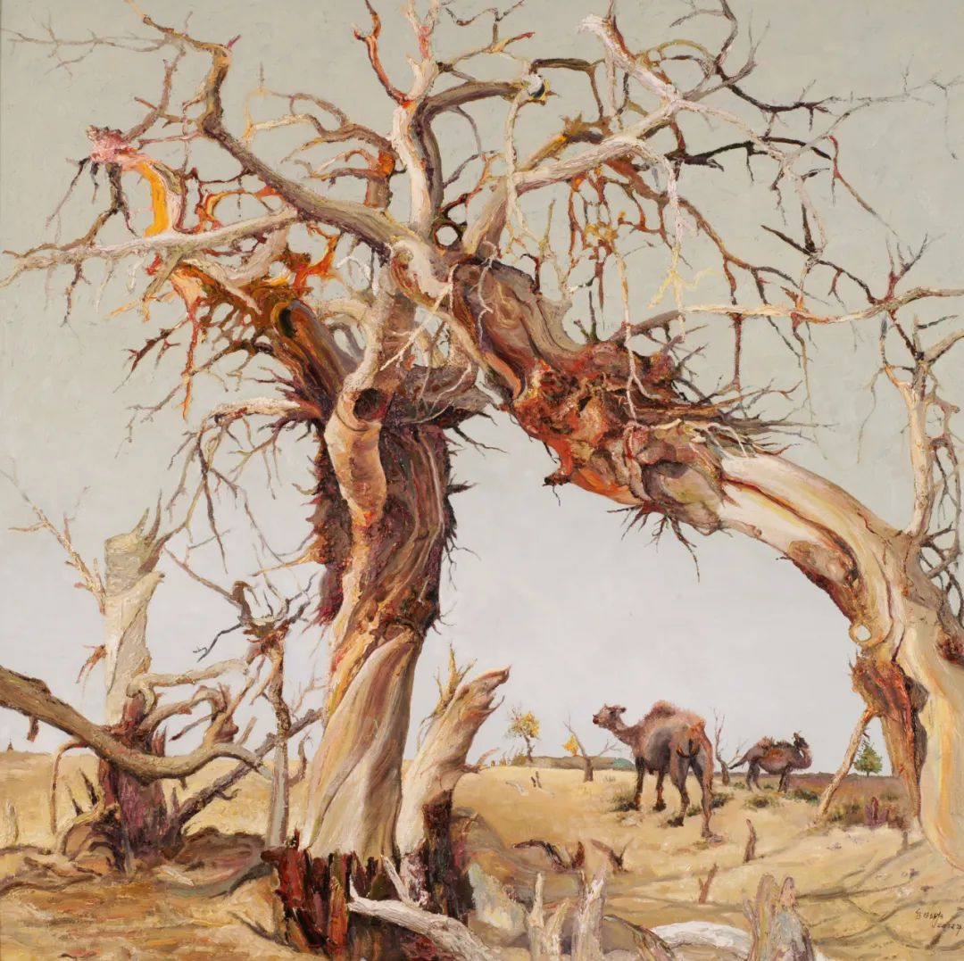 画胡杨的乌日娜丨肖亦农 第24张 画胡杨的乌日娜丨肖亦农 蒙古画廊