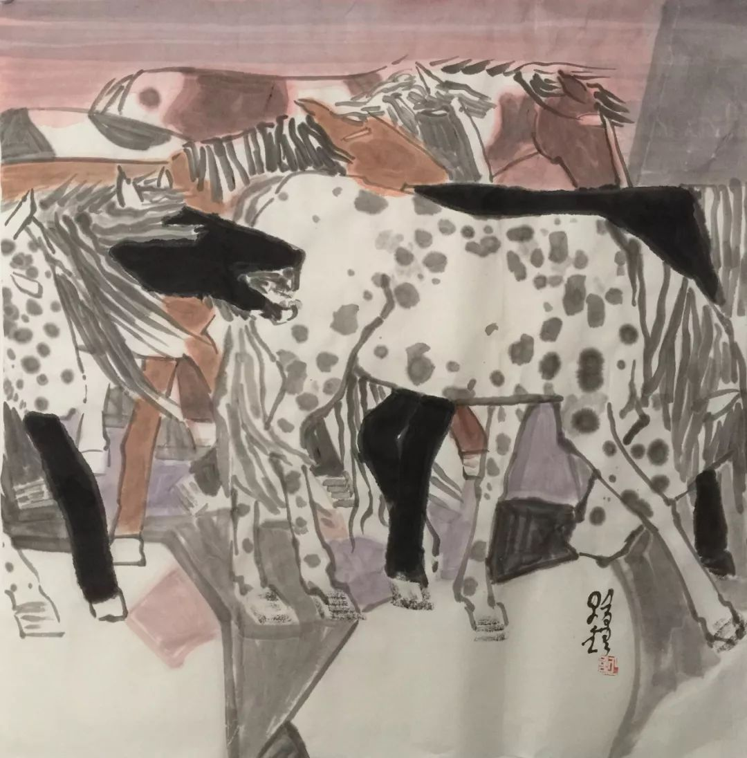 蒙古马  内蒙古当代美术作品微展(三) 第2张